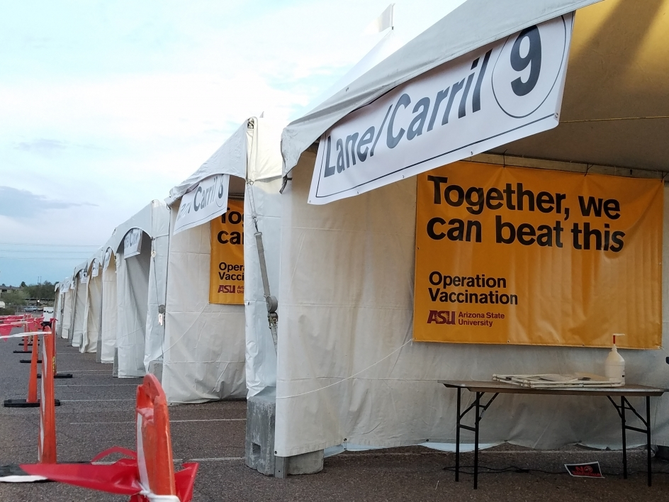 ASU drive-through site ready for vaccine patients