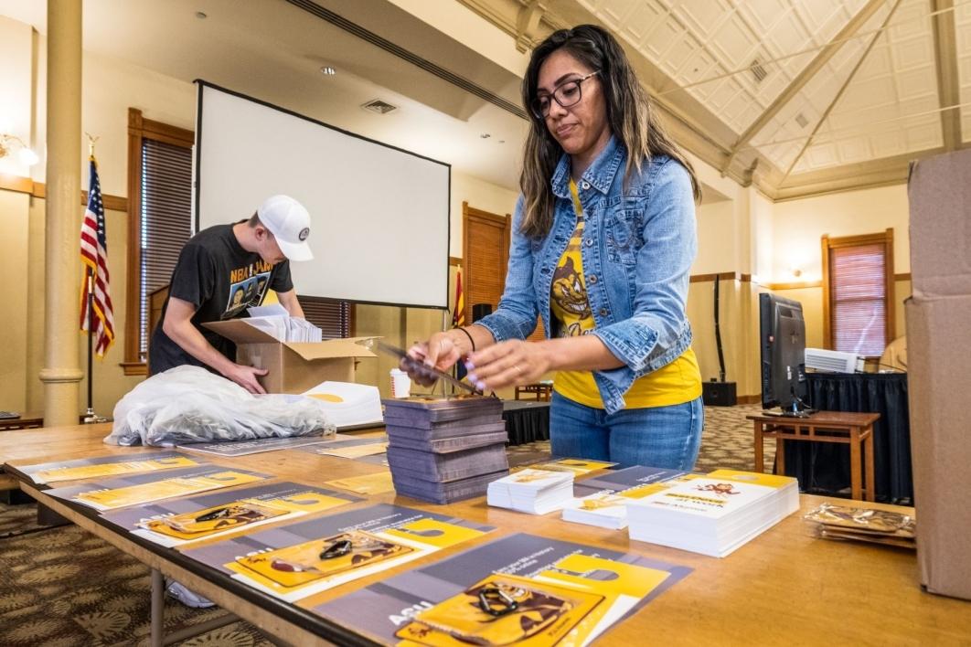 ASU Alumni Association team packs Back-to-School Teacher Packs