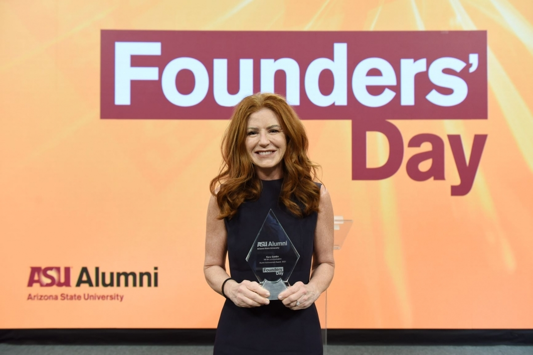 Kara Goldin, Founder and CEO of Hint, Inc., was awarded the Alumni Achievement Award.