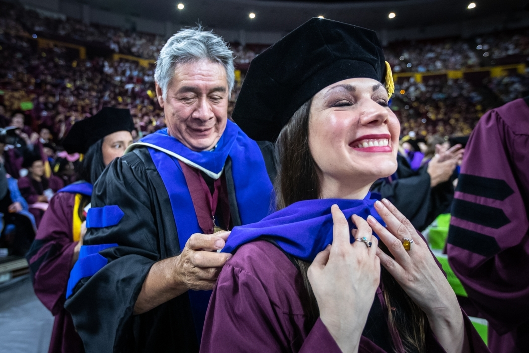 Hooding a new doctor