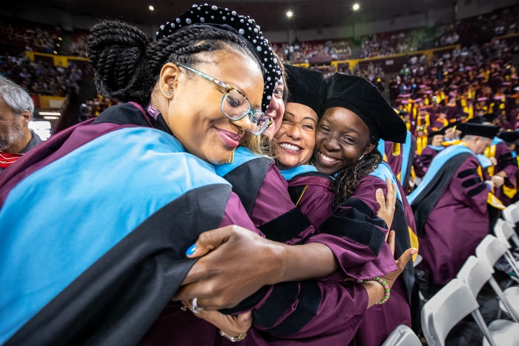 Last hug at graduation