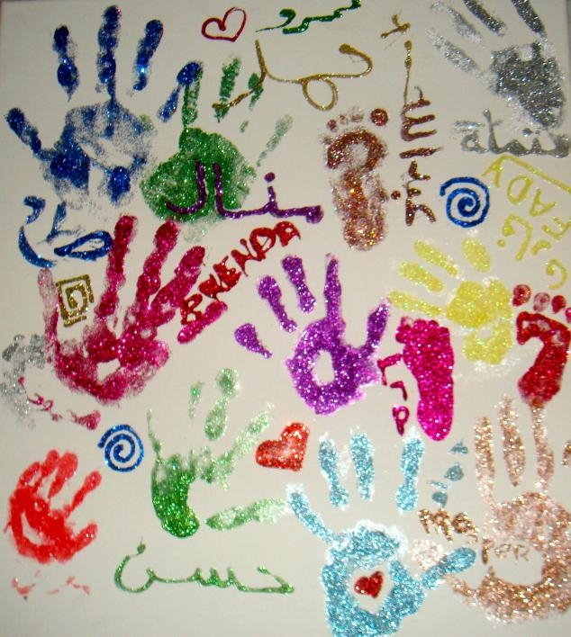 Art project with children after open heart surgery, Egypt