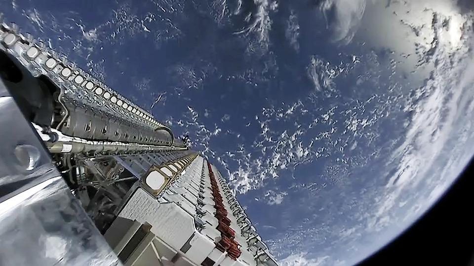 Constellation satellites aboard a rocket.