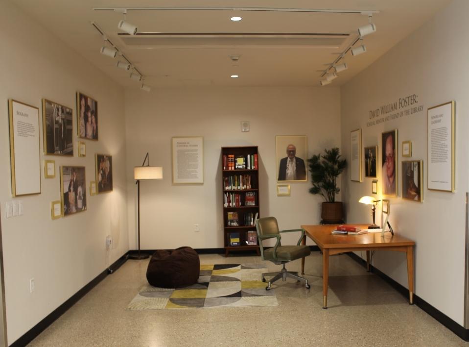 memorial exhibit at Hayden Library