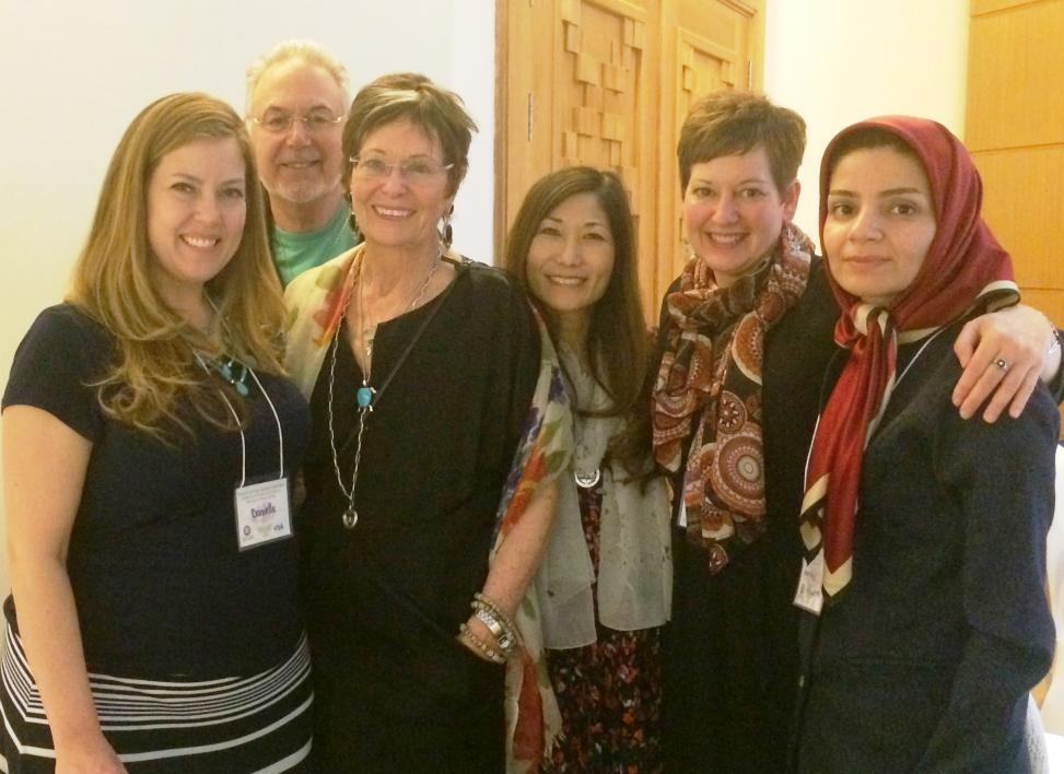 Wofford with Jean Watson and new friends in Jordan