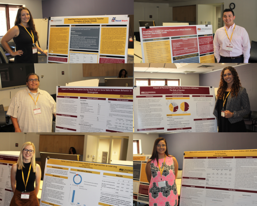 Collage of all 6 SUPER fellows standing with their research posters.