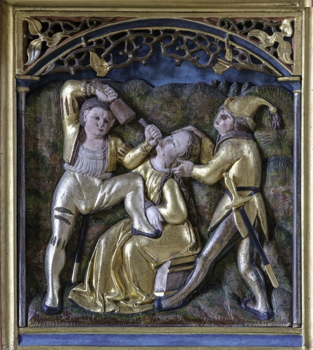 painting depicting the torture of a saint