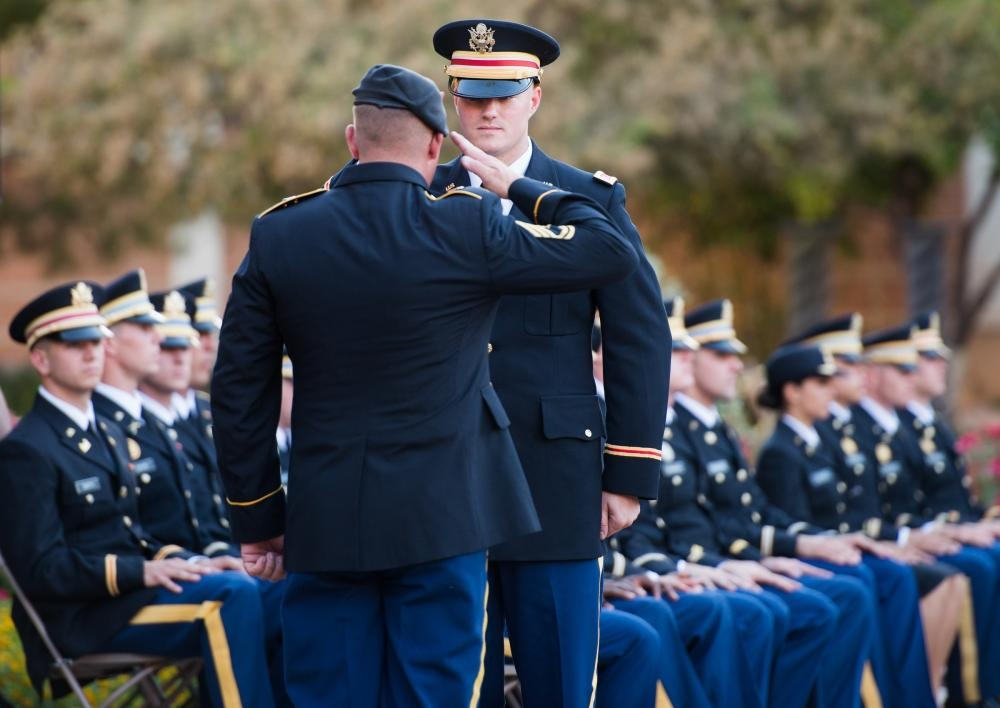 2nd Lieutenant receives ceremonial first salute