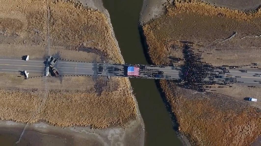 The Backwater Bridge on Highway 1806 over Cantapeda Creek / Drone footage shot by Myron Dewey