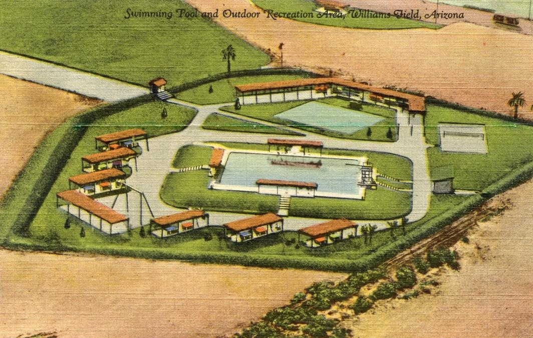 promotional drawing of pool at Williams Air Force Base