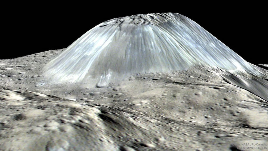 Ahuna Mons on dwarf planet Ceres