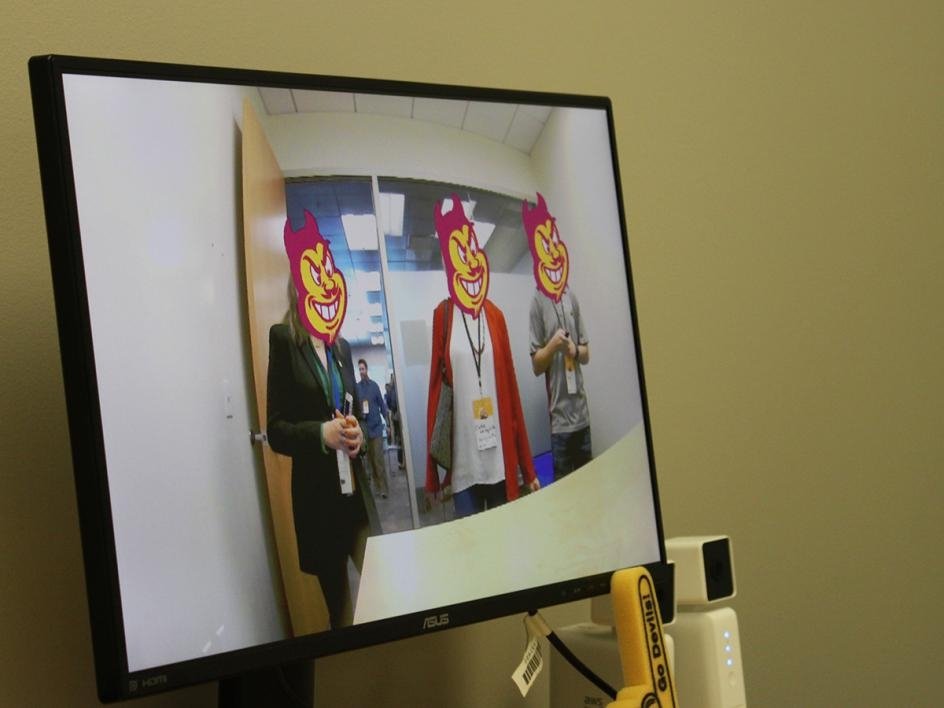 ASU's Sparky illustrates artificial intelligence (AI).