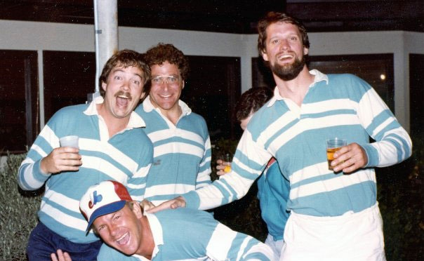 Rugby players in 1984.