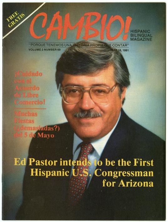 A magazine cover featuring Ed Pastor
