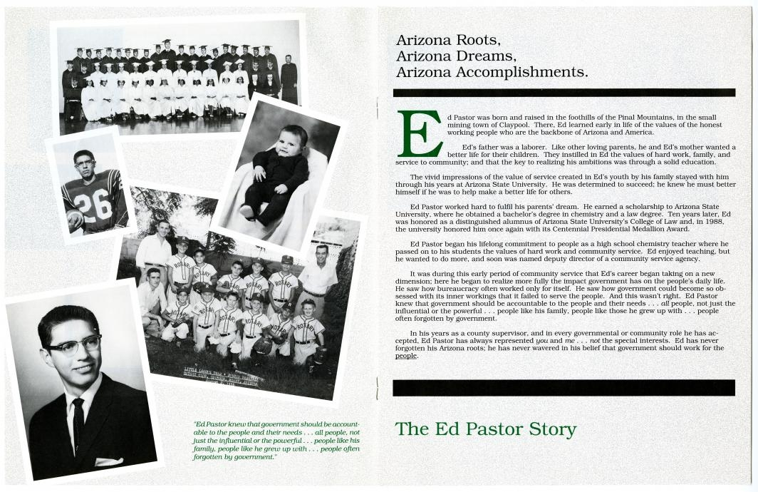 Ed Pastor magazine story from archives