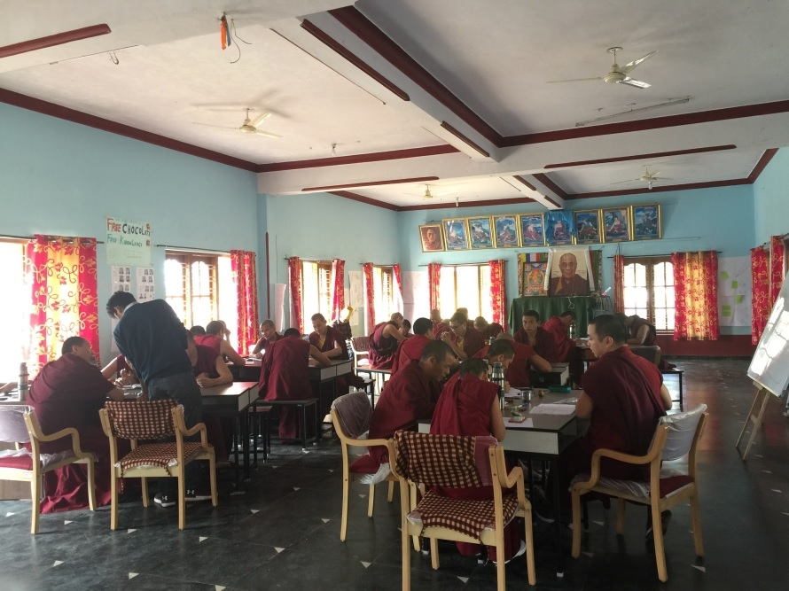 classroom of Buddhist monks