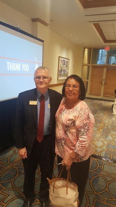 ASU dean Duane Roen and Ak-Chin Community Tribal Council member Delia Carlyle