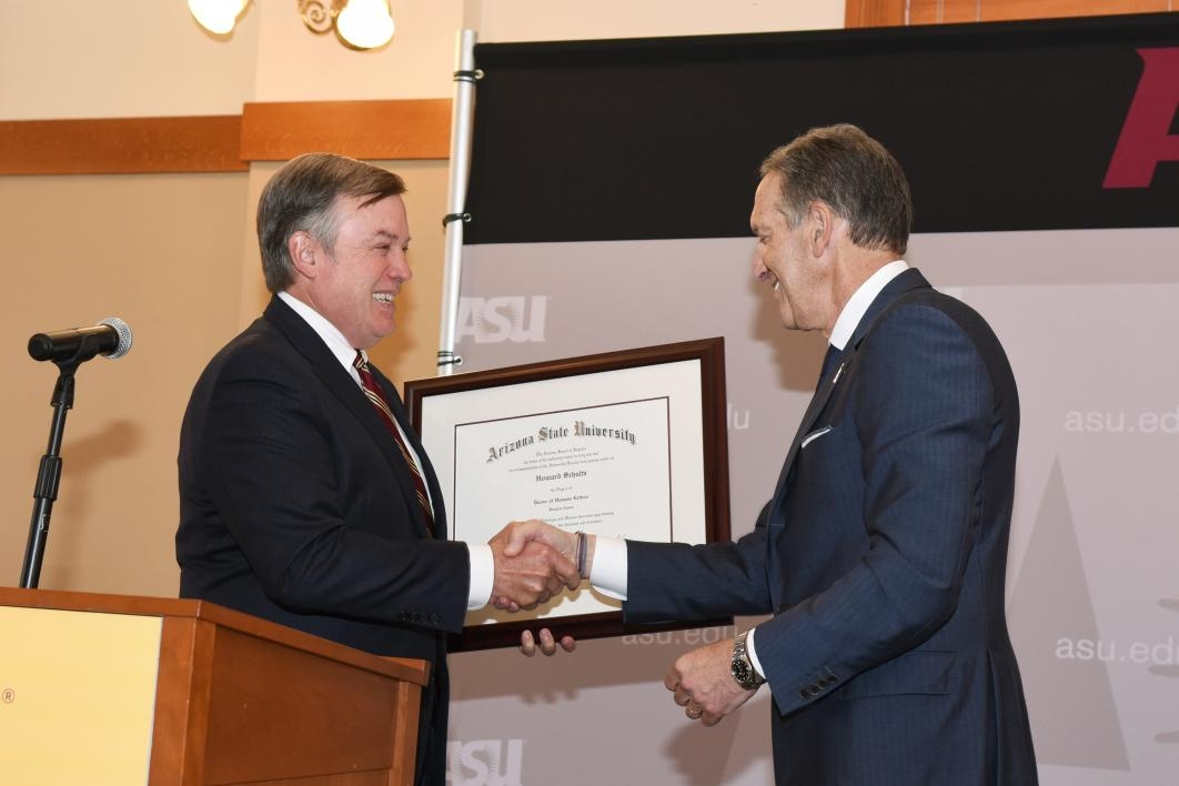 Howard Schultz honorary degree