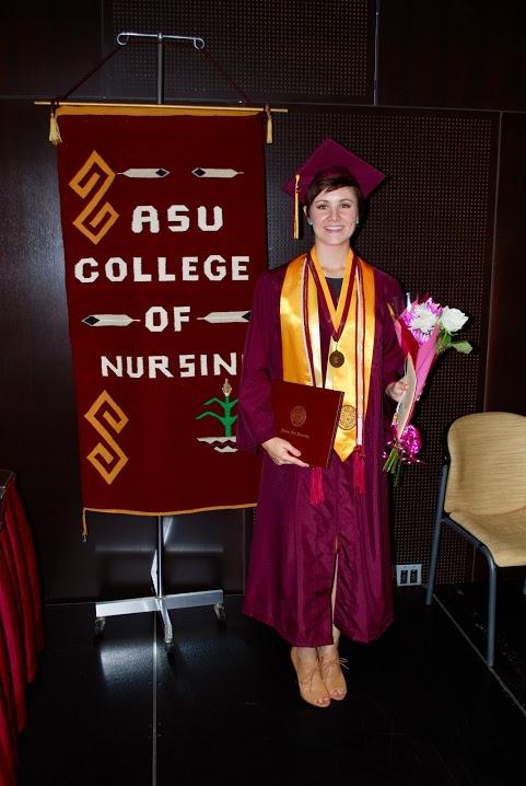 Lauren Leander at her Summer 2014 BSN graduation ceremony