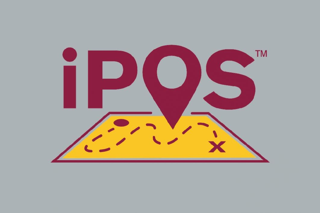 iPOS text on ASU gold map