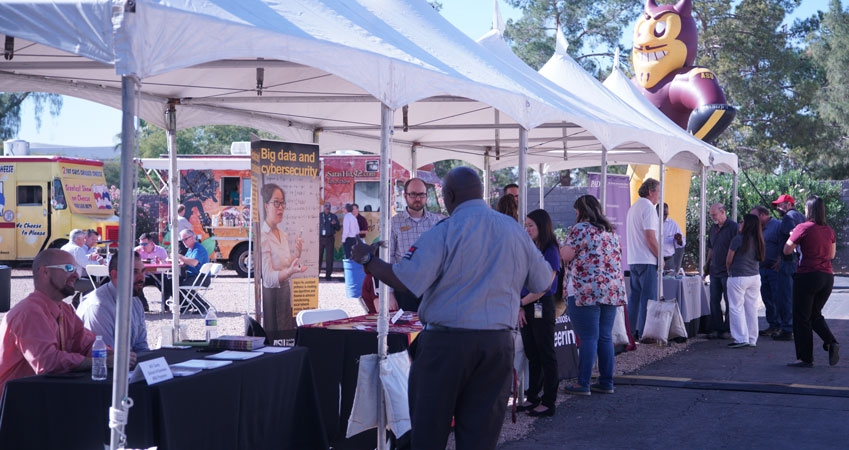 Connect at ASU Research Park event booths