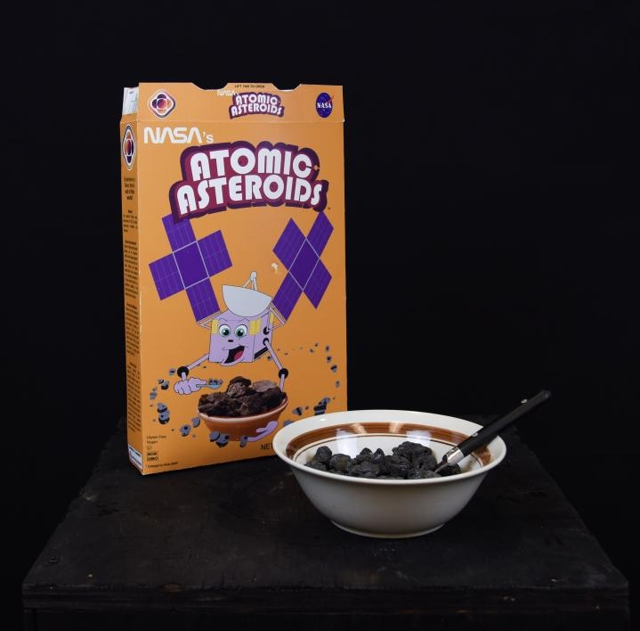 Atomic Asteroids cereal box and bowl