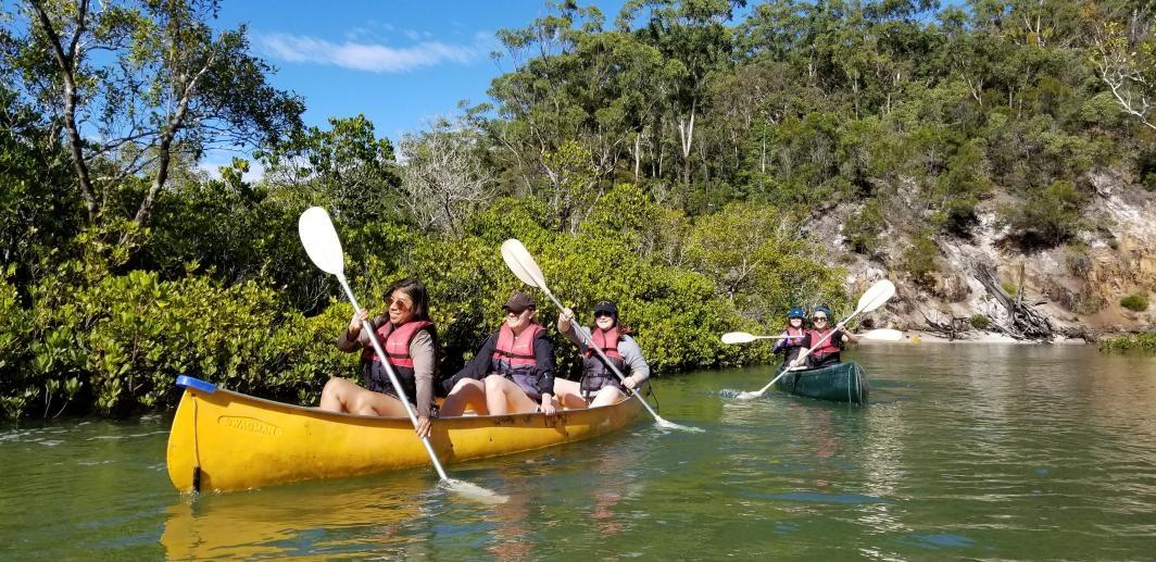 photo of kayaking students in Australia