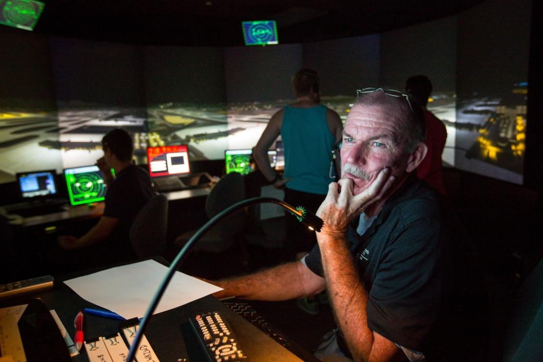 An air-traffic control instructor at ASU.