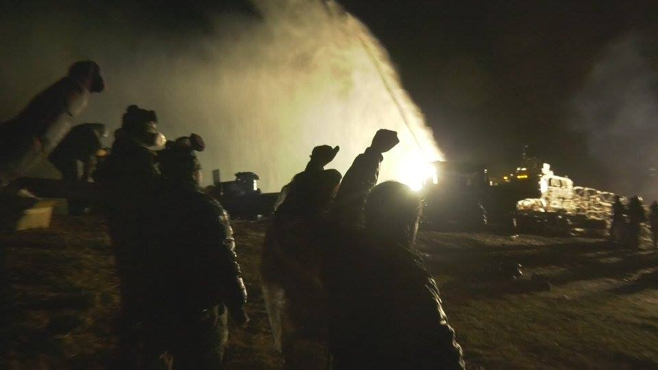 "Image from ""Awake: A Dream from Standing Rock"" captured by James Spione."