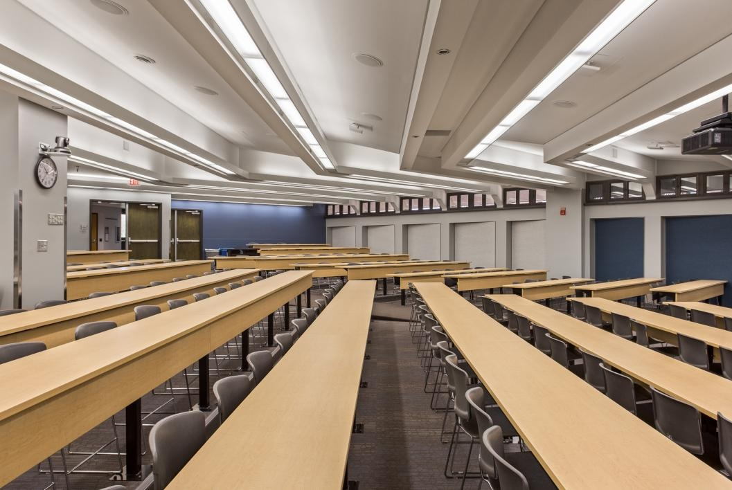 The Capacity Of Two Lecture Spaces In Business Administration C Wing For W P Carey School Was Increased Classrooms Include All New