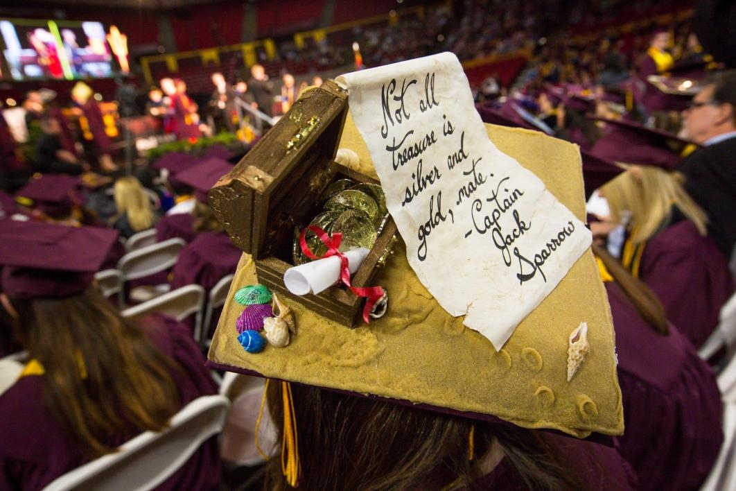 mortar board with Jack Sparrow quote