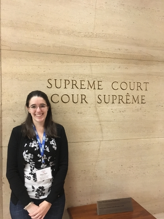 Navia visiting the Canadian Supreme Court during her Killam Fellowship orientation