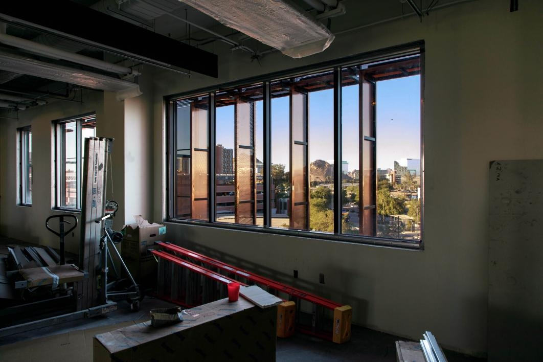 Biodesign C boasts impressive views of ASU and Tempe on all sides.