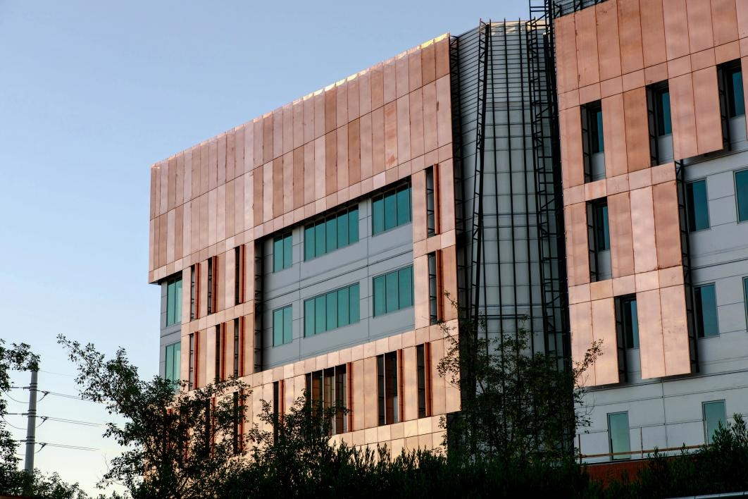 The C building's distinctive copper skin helps shield it from the Arizona sun