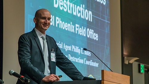 Philip Bates presents at Arizona Biosecurity Workshop