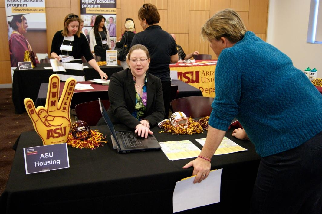 Many ASU units staffed tables at the Bridging Success for Foster Alumni conference