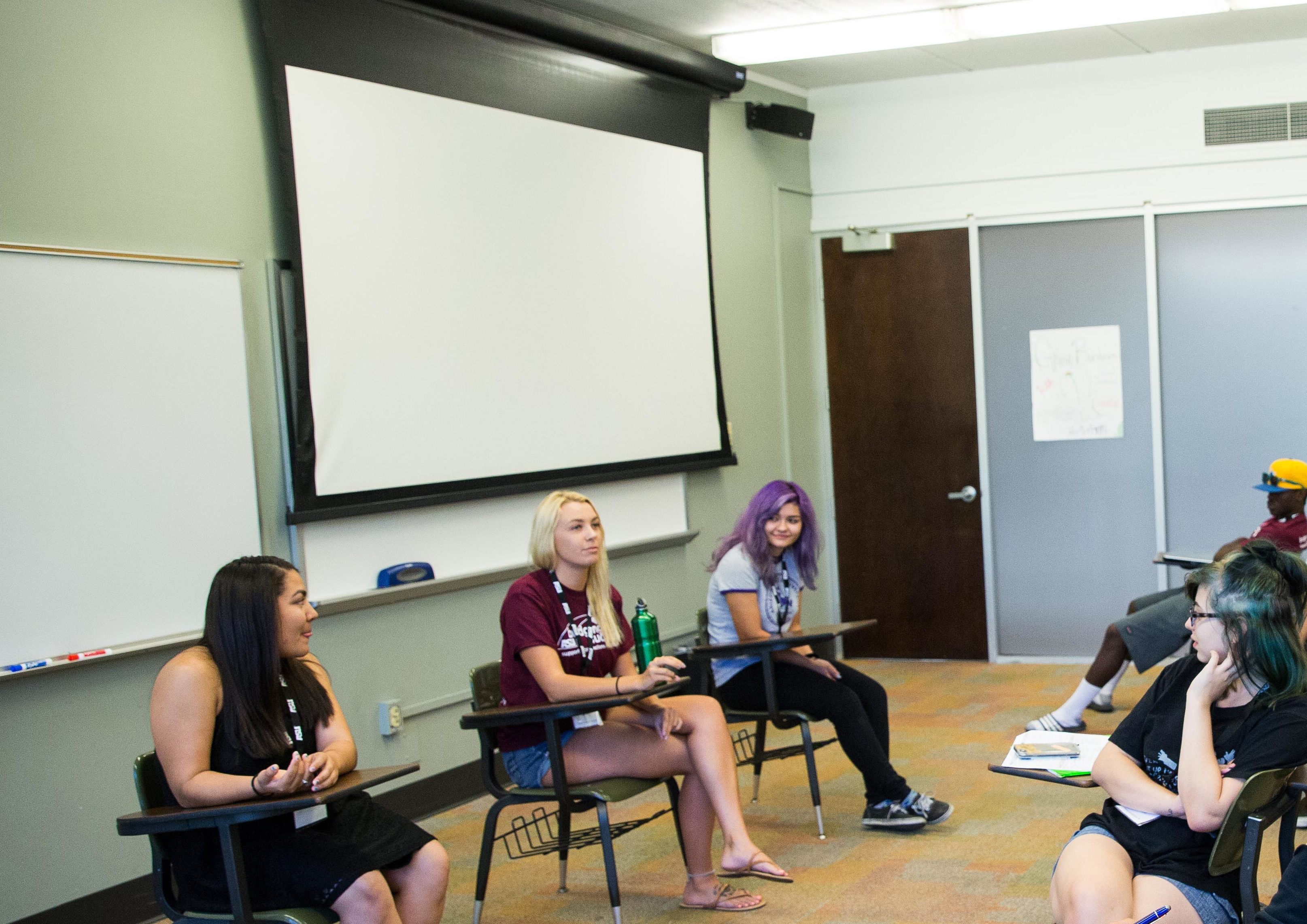 ASU Bridging Success peer mentors talked as a panel about getting involved in student clubs and other organizations