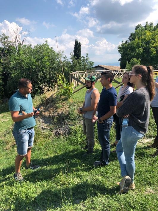 ASU students learning about the growing agritourism trend
