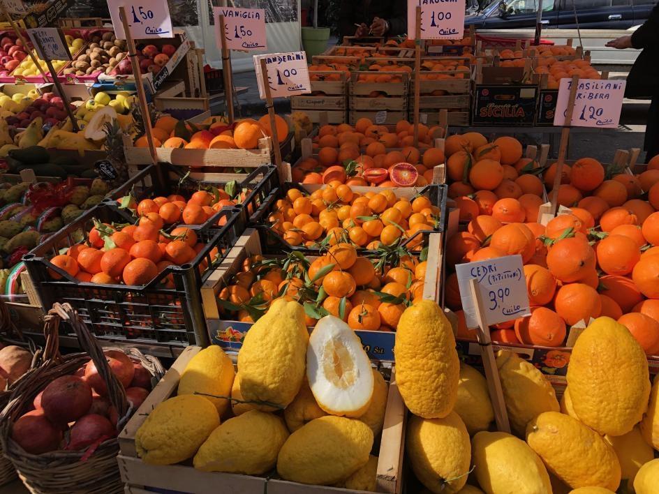 The bounty of the Capo market in Italy / Photo by Erin Bottino