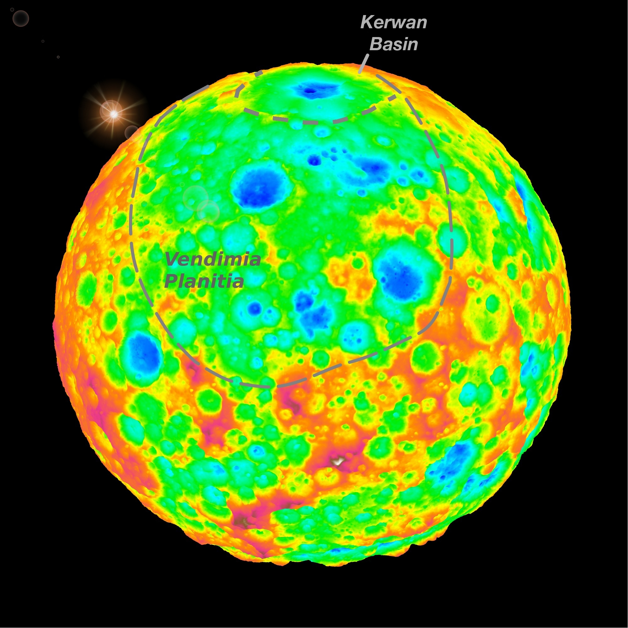Topography of dwarf planet Ceres from Dawn spacecraft data