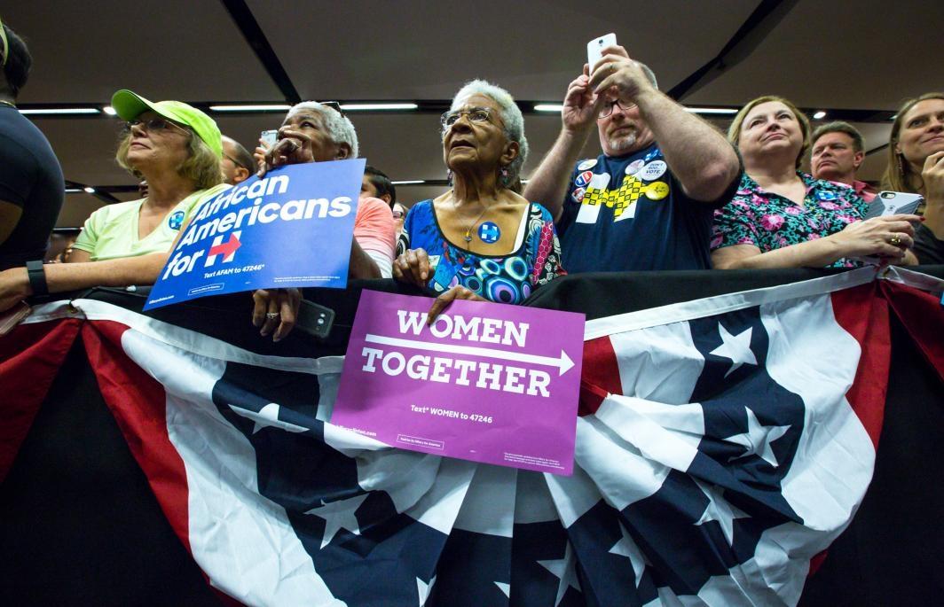 Older fans listen to Chelsea Clinton speak