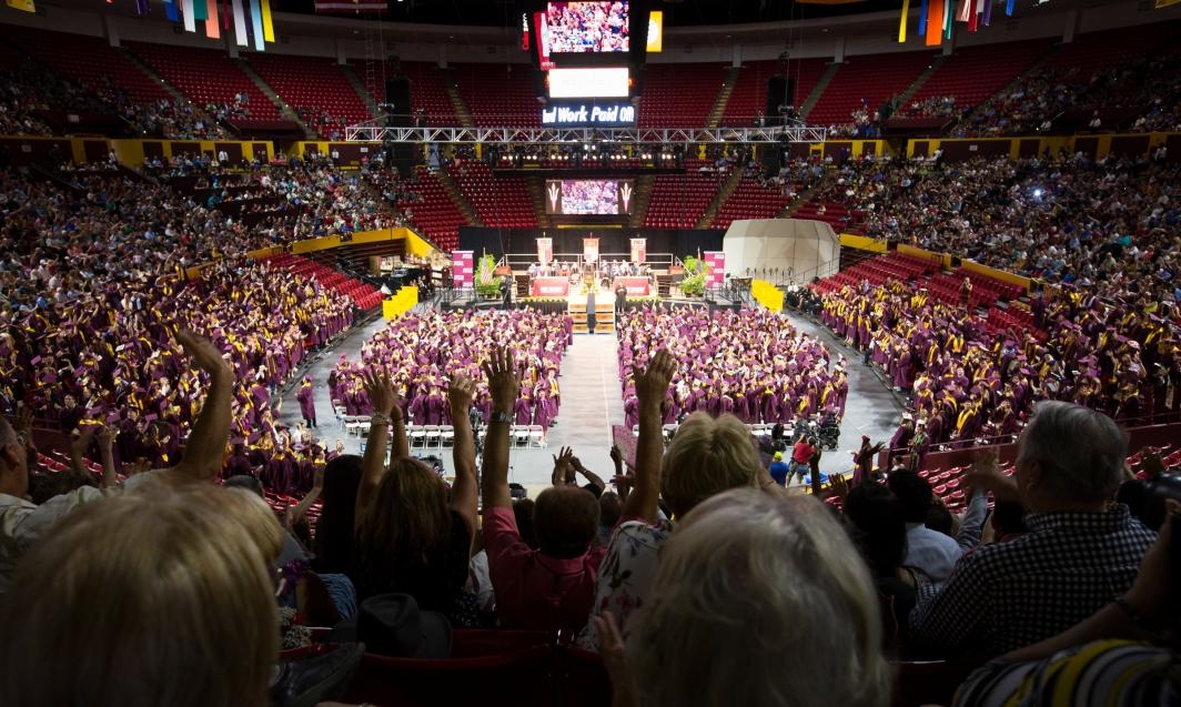 ASU graduates filling up Wells Fargo Arena