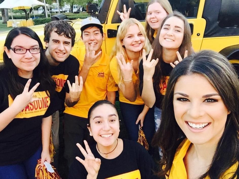 ASU students volunteering