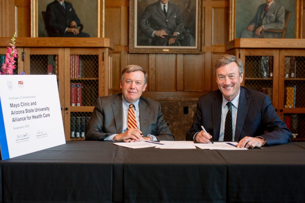 Michael Crow and John Noseworthy