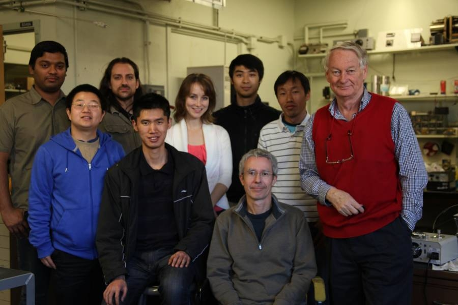 John Spence and colleagues in the lab