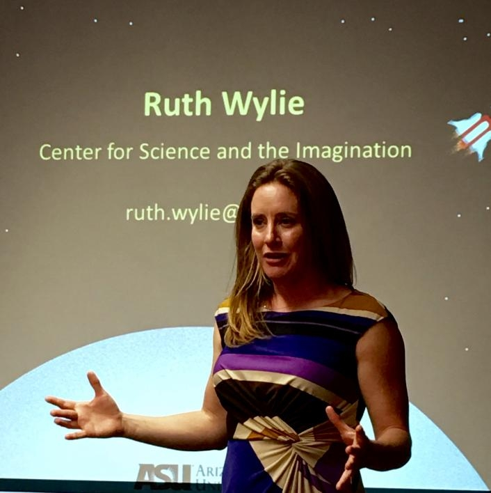 Ruth Wylie speaks in Cuba