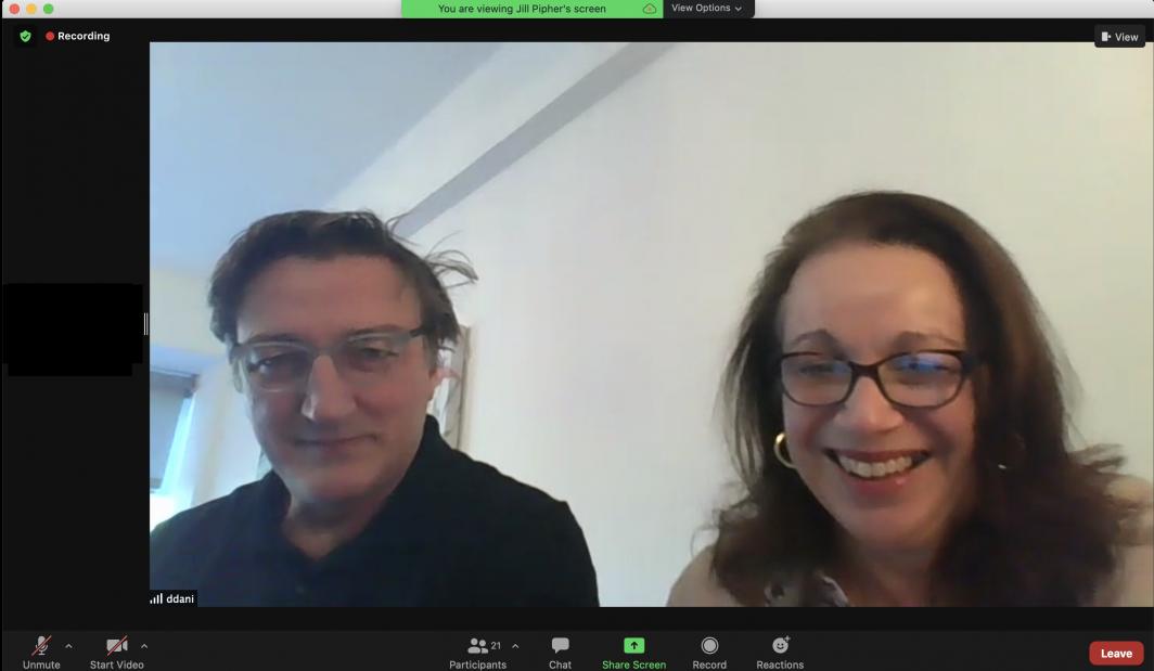 Donatella Danielli introduces speakers during JMM 2021