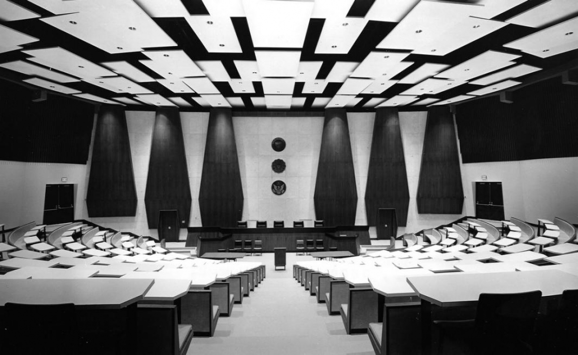 court room lecture hall