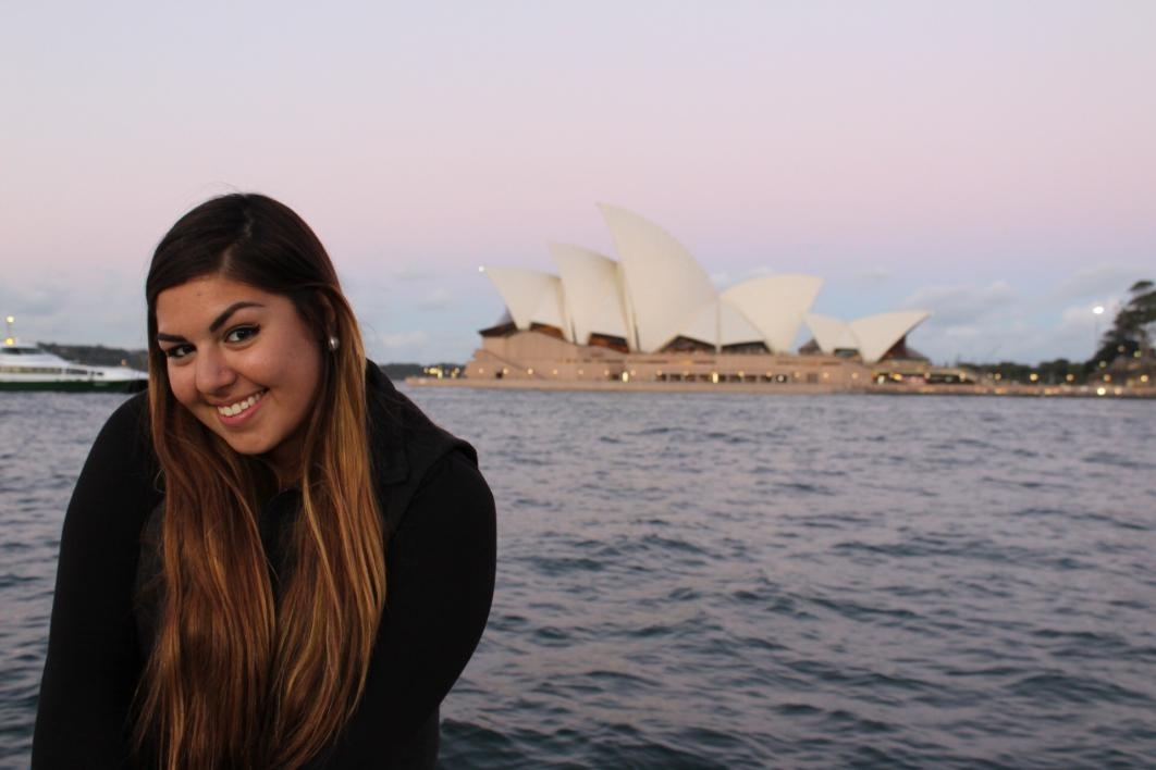 Hernandez poses in front of the Sydney Opera House