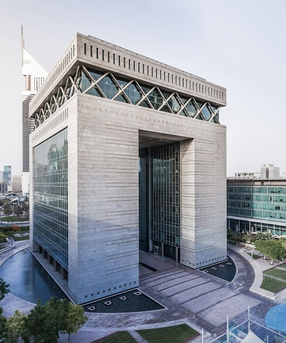 exterior of a building in the DIFC Innovation Hub, a major part of the Dubai Future District
